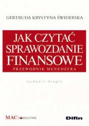 Okładka książki Jak czytać sprawozdanie finansowe