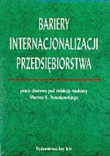 Okładka książki Bariery internacjonalizacji przedsiębiorstwa