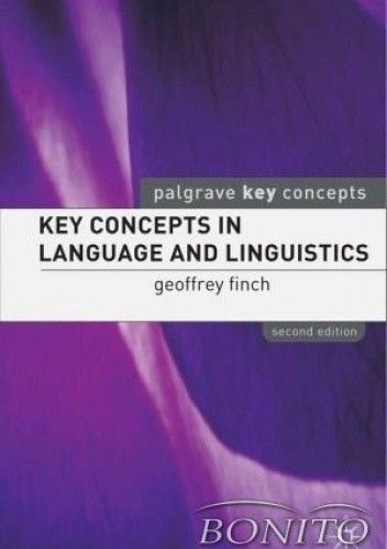 Okładka książki Key contepts in language and linguistics