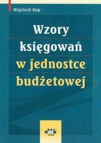 Okładka książki Wzory księgowań w jednostce budżetowej