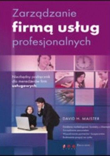 Okładka książki zarządzanie firmą usług profesjonalnych