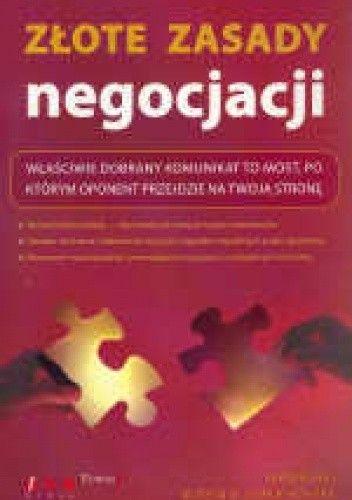 Okładka książki złote zasady negocjacji