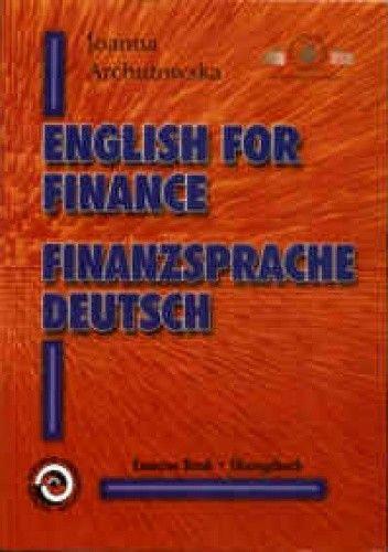Okładka książki English for finance. Finanzsprache Deutsch.
