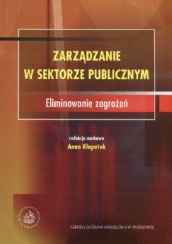 Okładka książki Zarządzanie W Sektorze Publicznym Eliminowanie Zagrożeń