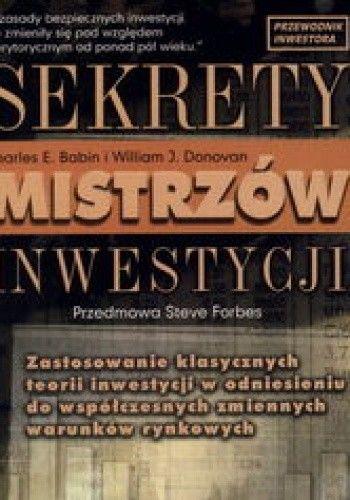 Okładka książki Sekrety mistrzów inwestycji