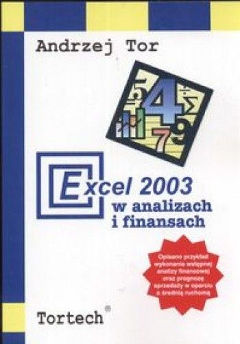 Okładka książki Excel 2003 w analizach i finansach
