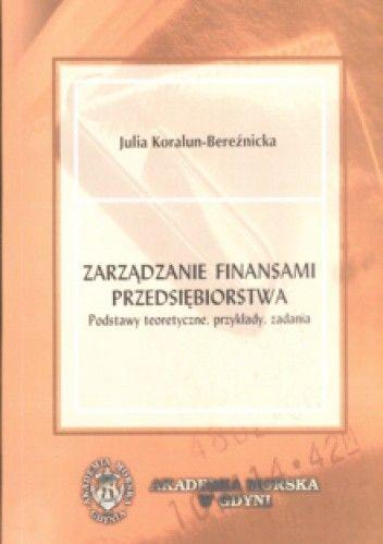 Okładka książki zarządzanie finansami przedsiębiorstwa