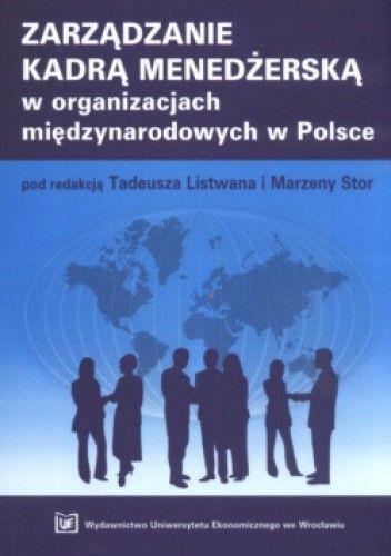 Okładka książki zarządzanie kadrą menedżerską w organizacjach międzynarodowych w Polsce