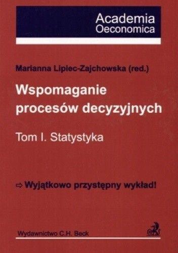 Okładka książki Wspomaganie procesów decyzyjnych Tom 1 Statystyka