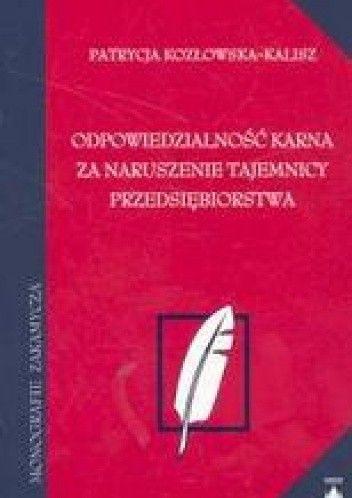 Okładka książki Odpowiedzialność karna za naruszenie tajemnicy PRzEDSIęBIORSTWA /Monografie zakamycza