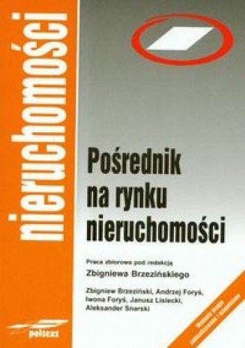 Okładka książki Pośrednik na rynku nieruchomości