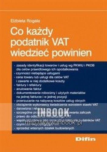 Okładka książki Co każdy podatnik VAT wiedzieć powinien
