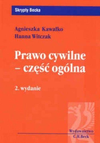 Okładka książki Prawo cywilne Część ogólna /Skrypty becka