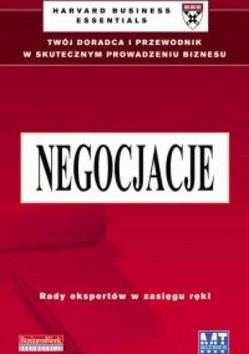 Okładka książki Negocjacje /Harvard business essentials