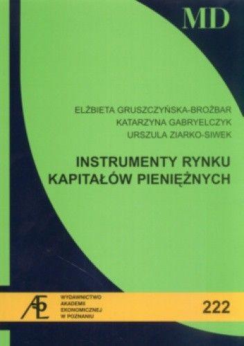 Okładka książki Instrumenty rynku kapitałów pieniężnych