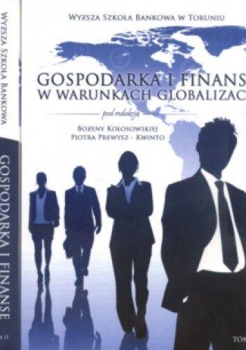 Okładka książki Gospodarka i finanse w warunkach globalizacji