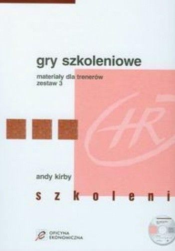 Okładka książki Andy Kirby. Gry szkoleniowe. Materiały dla trenerów zestaw 3 (z płytą CD).
