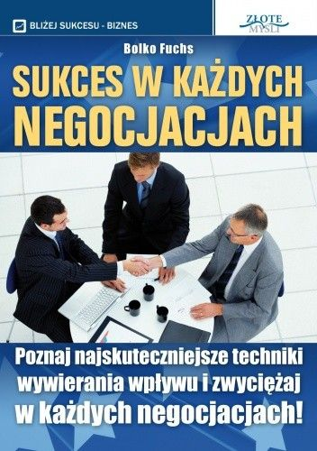 Okładka książki Sukces w każdych negocjacjach - e-book