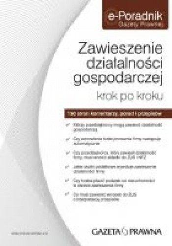 Okładka książki zawieszenie działalności gospodarczej krok po kroku