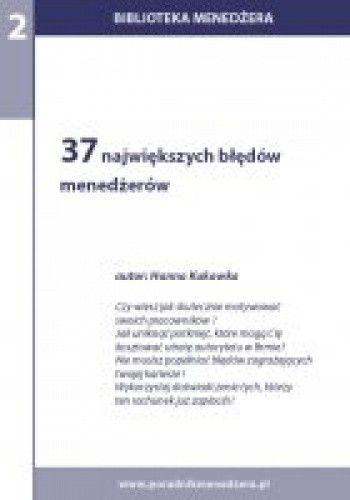 Okładka książki 37 największych błędów menadżerów