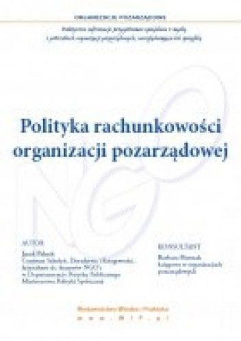 Okładka książki Polityka rachunkowości organizacji pozarządowej