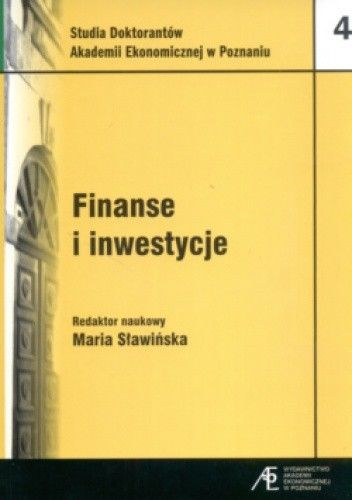 Okładka książki Finanse i inwestycje