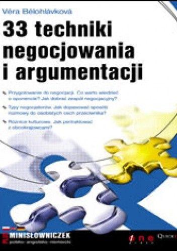 Okładka książki 33 techniki negocjowania i argumentacji