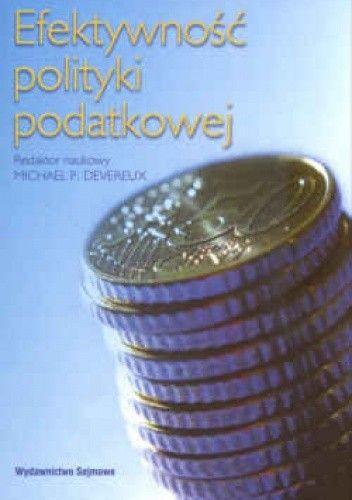 Okładka książki Efektywność polityki podatkowej