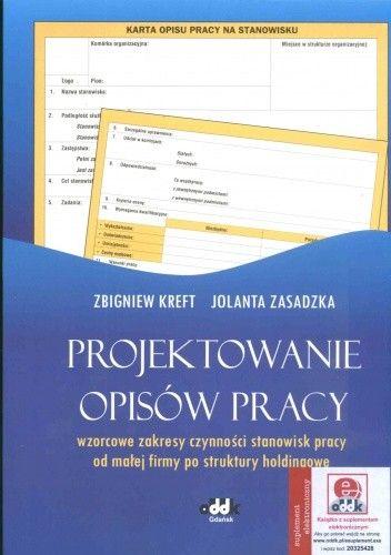 Okładka książki Projektowanie opisów pracy