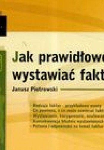 Okładka książki Jak prawidłowo wystawiać faktury Vat /Biblioteka przedsiębiorcy