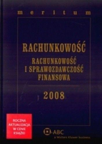 Okładka książki Rachunkowość 2008. Meritum