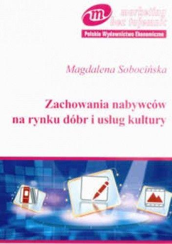 Okładka książki zachowania nabywców na rynku dóbr i usług kultury