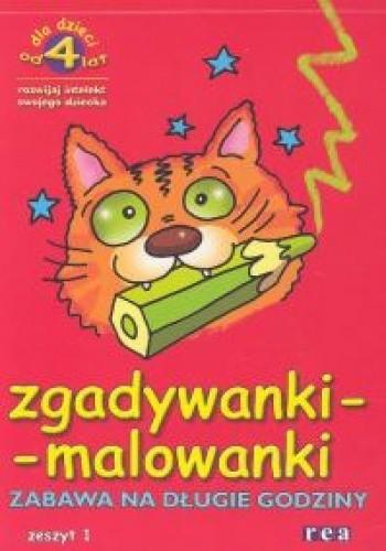 Okładka książki zgadywanki - malowanki. zeszyt 1