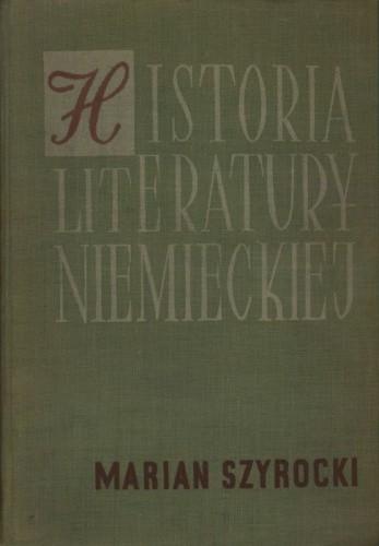 Okładka książki Historia literatury niemieckiej. Zarys