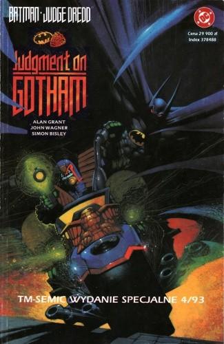 Okładka książki Batman/Judge Dredd: Sąd nad Gotham