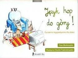 Okładka książki Język hop do góry! Ćwiczenia logopedyczne dla dzieci