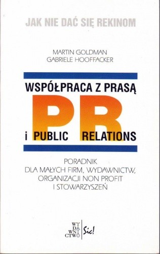 Okładka książki Współpraca z prasą i public relations