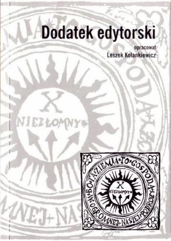 Okładka książki Dodatek edytorski