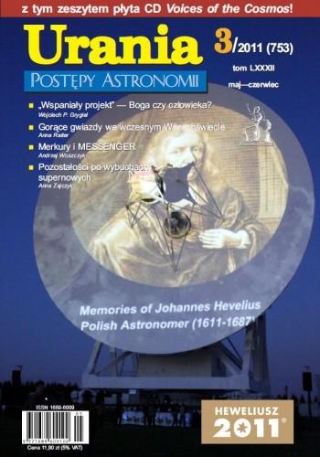 Okładka książki Urania - Postępy Astronomii 3/2011