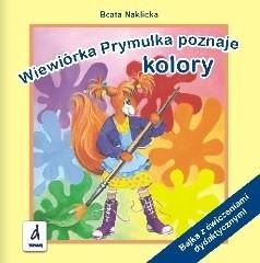 Okładka książki Wiewiórka Prymulka poznaje kolory