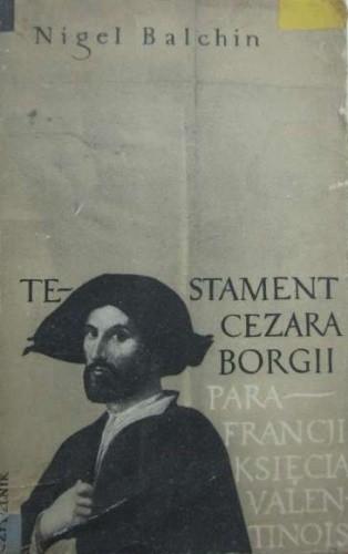 Okładka książki Testament Cezara Borgii