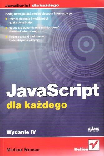 Okładka książki JavaScript dla każdego. Wydanie IV