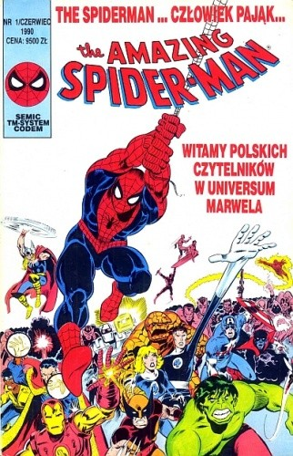 Okładka książki The Amazing Spider-Man 1/1990