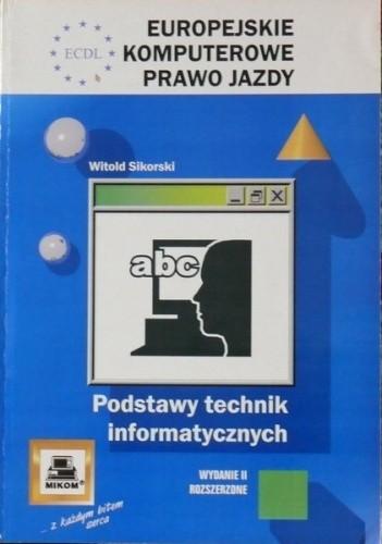 Okładka książki ECDL Europejskie Komputerowe Prawo Jazdy. Podstawy technik informatycznych