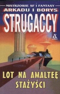 Okładka książki Lot na Amalteę.  Stażyści