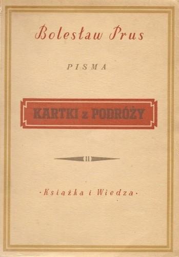 Okładka książki Kartki z podróży t. II