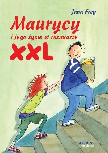 Okładka książki Maurycy i jego życie w rozmiarze XXL