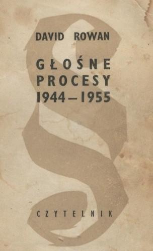 Okładka książki Głośne procesy 1944-1955