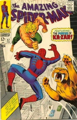 Okładka książki Amazing Spider-Man - #057 - The Coming of Ka-Zar!