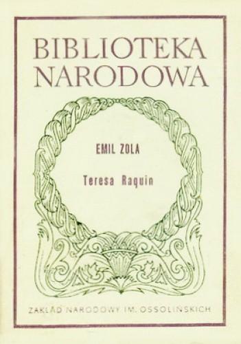 Okładka książki Teresa Raquin